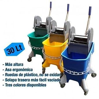 Carro de fregado con prensa PLUS 30 litros - Verde: Amazon.es: Industria, empresas y ciencia