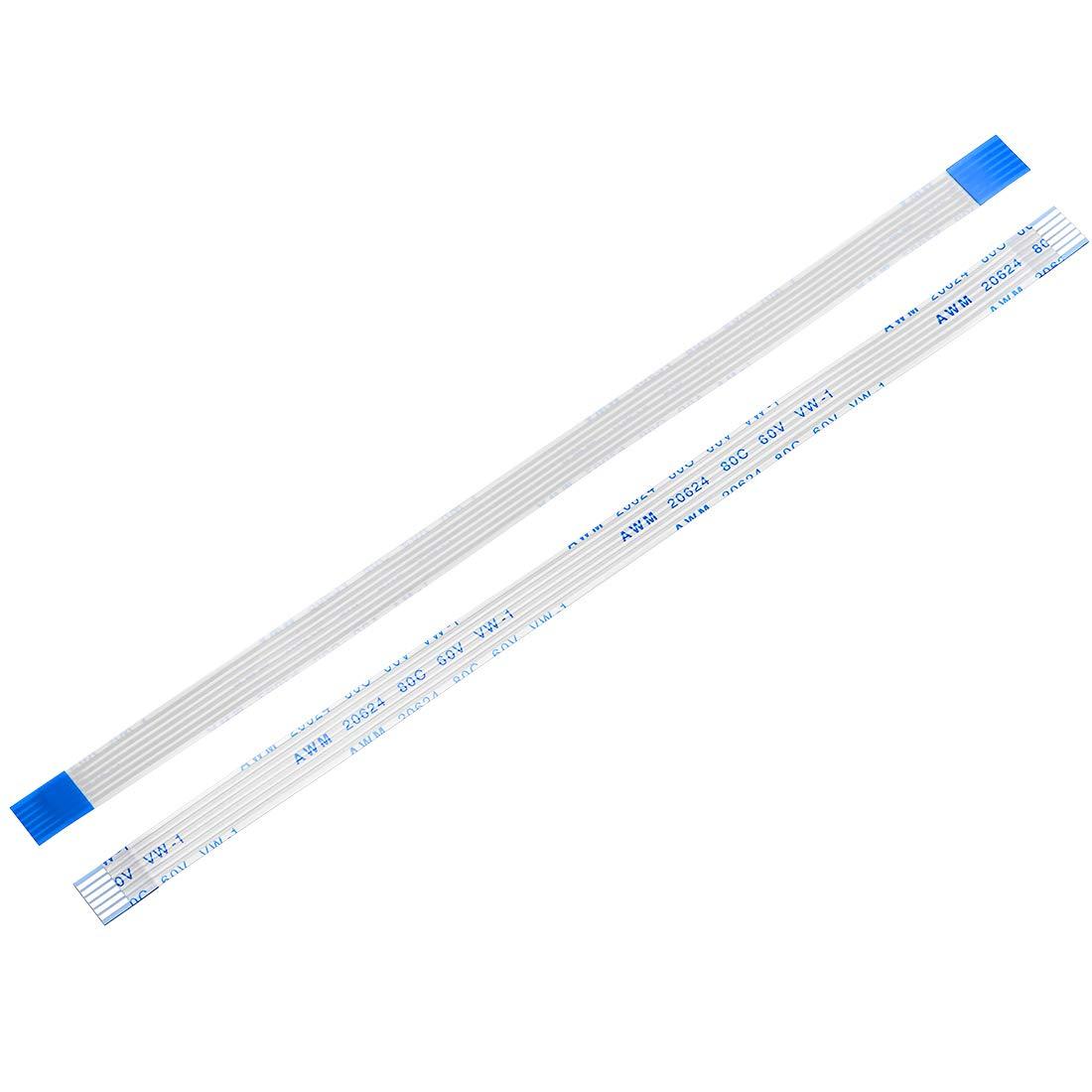 20uds sourcing map Cable Plano Flexible 150mm 1mm de Paso 10 Pines Cable Flexible de Cinta FPC FFC
