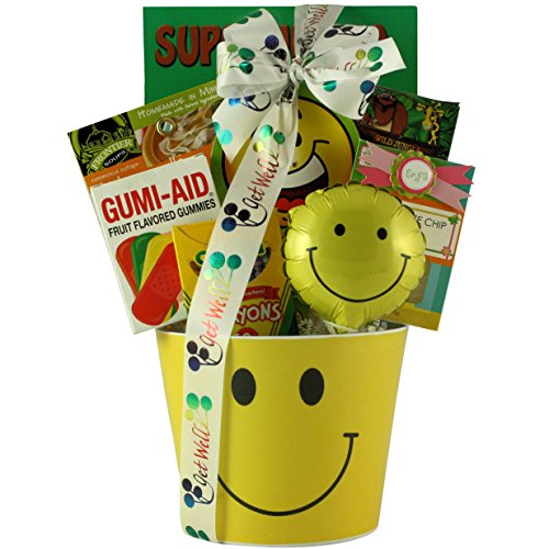 GreatArrivals Get Well Smiles Kid's Get Well Gift Basket, 2 Pound