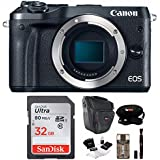 Canon EOS M6 Mirrorless Camera (Body Only) with Camera Case & 32GB Bundle