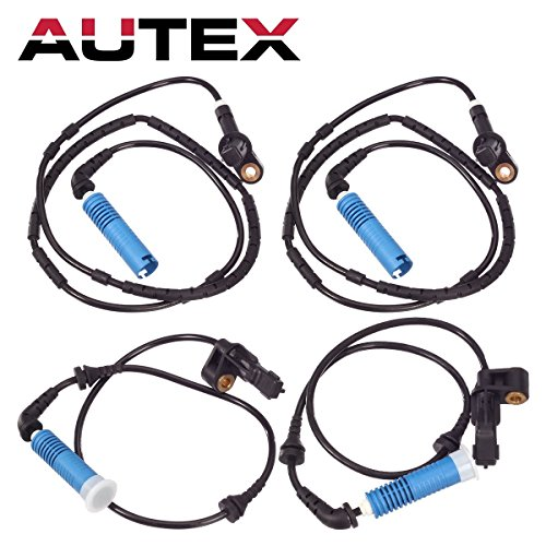 AUTEX 4 Pcs ABS Wheel Speed Sensor Front & Rear 34526752681 34526752682 34526752683 ALS436 ALS438 compatible with BMW Z4 2003-2008/BMW 325Ci 2001-06/BMW 325i 2002-05/BMW 328Ci 2000/BMW 333 01-05 ()