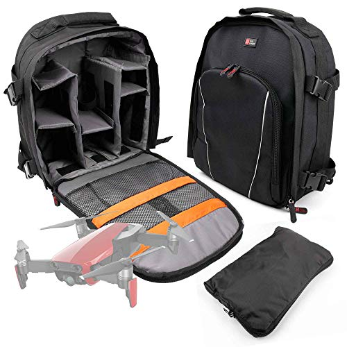 DURAGADGET Black Water-Resistant Rucksack/Backpack with Cust