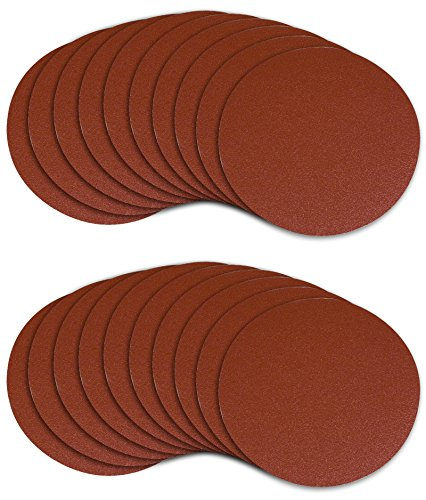 POWERTEC 45508 5-Inch PSA 80 Grit Aluminum Oxide Adhesive Sanding Disc, ()