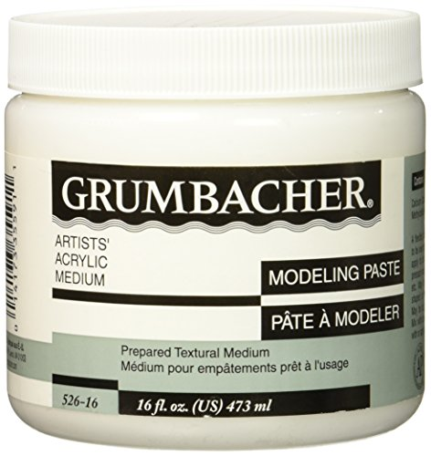 Grumbacher Hyplar Modeling Paste Artists' Acrylic & Oil Paint Medium, 16 oz. Jar