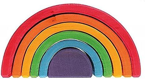 Grimm's Spiel und Holz Design Juego de Encajar, de Madera, diseño de Arco Iris (6Piezas)