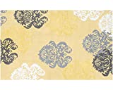 The Rug Market Kids Rugs Brocade, Yellow/White/Grey, 4' 7'' x 7' 7''
