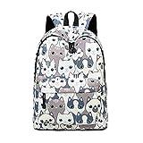 Teecho Girls Waterproof School Backpack Fashion 15.6' Laptop Backpack for Teenager Cat