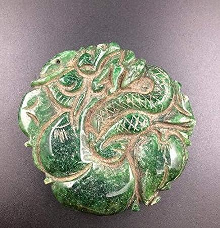 WEHQ Colección Antigua Figura Colgante de Jade de Myanmar/Regalos/Oficina/Adorno/Artesanía/Decoraciones para el hogar
