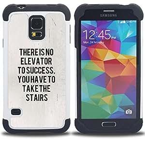 For Samsung Galaxy S5 I9600 G9009 G9008V - success inspiring message text poster Dual Layer caso de Shell HUELGA Impacto pata de cabra con im????genes gr????ficas Steam - Funny Shop -