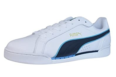 d00acc927b88 Puma Del Ray Mens Leather Trainers Shoes - White - SIZE UK 9  Amazon ...