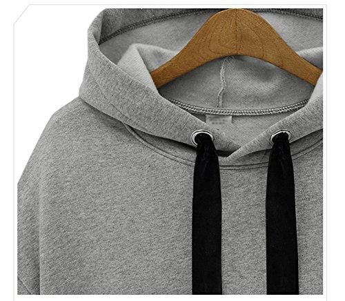 LOBZON - Sudadera con capucha - Casual - para mujer gris