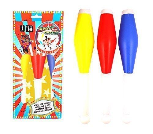 3 Colourful Juggling Clubs for Kids - Starter Kit Henbrandt