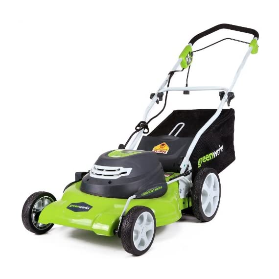 Greenworks g-max 40v 20-inch cordless 3-in-1 lawn mower with smart cut technology, (1) 4ah battery and charger included mo40l410 1 includes (1) max capacity 4 ah - 40v lithium battery , cutting heights - 5 position durable 20'' steel deck lets you mulch, bag, or side discharge allowing you to maintain your yard the way you want it. This lawn mower is not self-propelled innovative smart cut technology automatically increases the speed of the blade when more power is needed