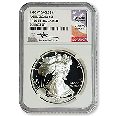 1995 No Mint Mark American Silver Eagle $1 NGC PF70