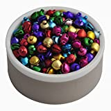 6MM 200 pcs/lot Mix Colors Loose Beads Small Jingle Bells Christmas Decoration