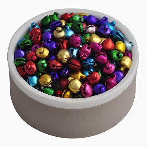 6MM 200 PC / colores de la mezcla de los granos flojos Pequeño Cascabeles Decoración de Navidad