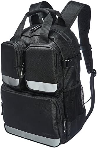 Amazonベーシック ツールバッグ バックパック 23ポケット 3つのフロントポケット付き