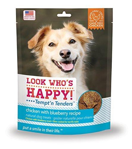 Guarda   è Happy Products Tempt'n Tenders  cken con Blueberry Ricepe di Look Who's Happy Dog Treatus