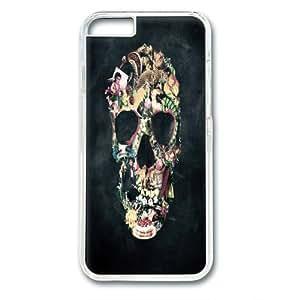 Vintage Skull Hard Plastic Case for Iphone 6 Case - Retail Packaging - PC Transparent