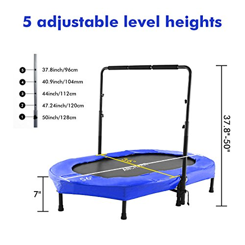 ANCHEER Mini Rebounder Trampoline with Adjustable Handle for Two Kids,Parent-Child Trampoline (Blue) by ANCHEER (Image #1)