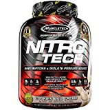 MuscleTech NitroTech Protein Powder 100 Whey Isolate Cookies And Cream 4 Pound