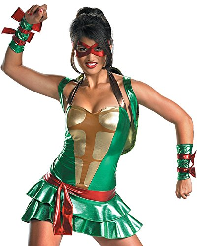 Womens Teenage Mutant Ninja Turtles Costume TMNT Costume Movie Costumes Sizes: Large Green]()