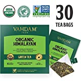 Organic Green Tea Leaves from Himalayas (30 Tea Bags), 100% Natural Weight Loss Tea, Detox Tea, Slimming Tea, ANTI-OXIDANTS RICH - Green Tea Loose Leaf - Brew Hot or Iced Tea - 15 Ct (Pack of 2)