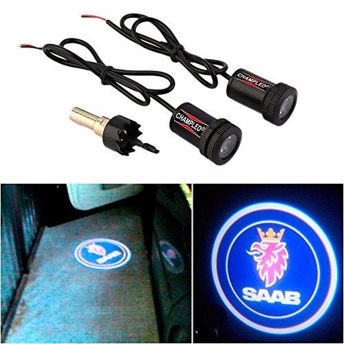 WONFAST® For SAAB Car Auto Laser Projector Logo Illuminated Emblem Under Door Step courtesy Light Lighting symbol sign badge LED Glow Performance