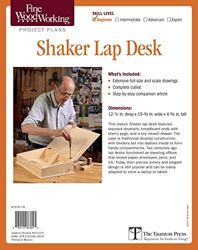 Fine Woodworking's Shaker Lap Desk Plan