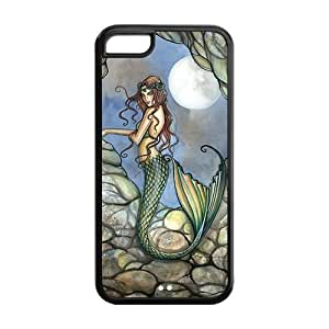 Hard Rubber Special Design iPhone 5c Cover Sexy Mermaid Case for iPhone 5c
