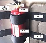 Fixing Belt Holder Adjustable to Mount Fire Extinguisher(5 belts)