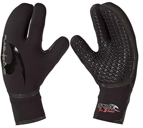 Rip Curl Flash Bomb 5/3 3-Finger Glove, Black, Large