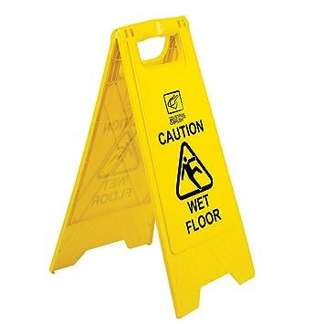 Wet Floor Sign Caution Wet Floor Size 640mm - Safety Floor Sign h