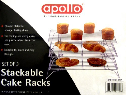 IOSSS 3 Stackable cake cooling rack - Wire frame