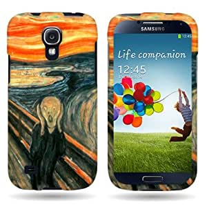 Hard Slim Design Case for Samsung Galaxy S4 - with Cover Removal Pry Tool - Orange Blue The Scream