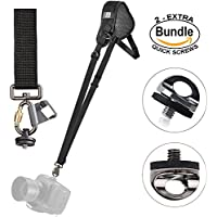 Black Rapid Sport Breathe Shoulder Sling Strap #361005 - with Extra (2) ZONOZ SMS-5 Neck Strap Mount Screw FastenRz (Bundle)
