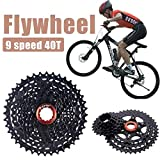 Sue Supply 11-40T Black 9-Speed Cassette Mountain Bike Cassette Flywheel for Mountain Bikes Road Bikes