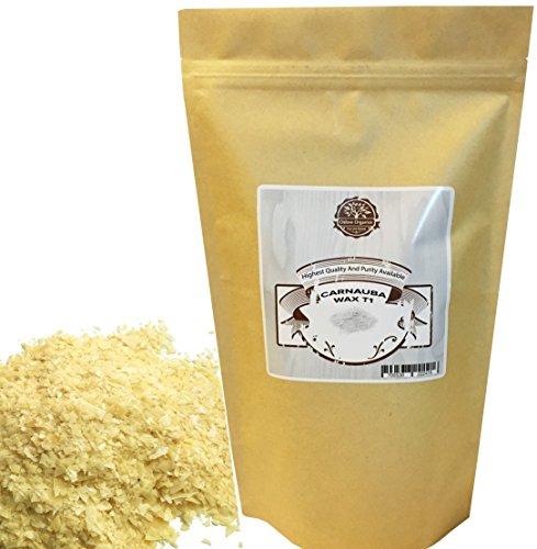 Organic Carnauba Wax Flakes 1 LB by Oslove Organics- T1 Grade, multipurpose (Carnauba Wax)