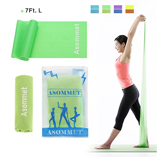 Asommet 7Ft. Exercise Resistance Bands with Sports Cooling T