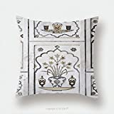 Custom Satin Pillowcase Protector Agra Utta Pradesh India February Inlaid Work Of Color Marble Stone On Wall Of Itmad 319614794 Pillow Case Covers Decorative