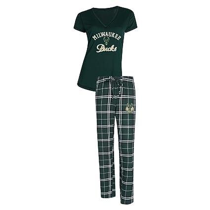 buy online 5e851 47a5e Amazon.com : Concepts Sport Milwaukee Bucks Women's Pajama ...