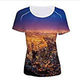 Women's T-Shirt,South Africa Coastline Roads Architecture Twilight,Pictures Print