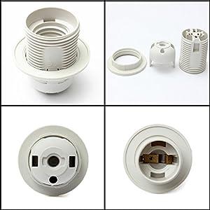 Lights & Lighting - Lamp Shade Ring Lampshade Collar - Edison Screw Es E27 M10 Light Bulb Lamp Holder Pendant Socket & Lampshade Collar - Heat Resistant Tote And Holder - 1PCs
