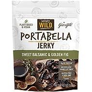 Savory Wild Vegan Portabella Mushroom Jerky | Gluten Free & Non-GMO | Sweet Balsamic & Golden Fig