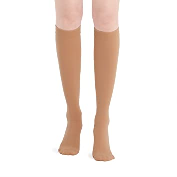 884aef494d Fytto 2020 Women's Compression Socks, 15-20mmHg Daily Support Hosiery,  Knee-High, Tan, S: Amazon.co.uk: Health & Personal Care
