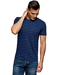 Ultra Men's Tagless Striped Cotton T-Shirt