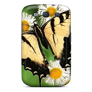 High Quality Tiger Butterfly Case For Galaxy S3 / Perfect Case