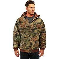 Trail Crest Men's Camo Zip Full Zip Up Hooded Sweatshirt...