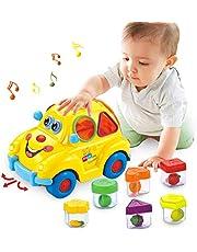 HOLA Babyspeelgoed vanaf 18 maanden, muziekbus voor vroegtijdig onderwijs, verschillende vruchten, muziek, licht, raadsels, cadeau speelgoed voor jongens en meisjes van 1 tot 3 jaar