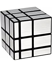 LSMY Espejo 3x3x3 Puzzle Cubo, Toy Negro Plata
